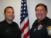 Officer Mark Kyllo and Sgt. Gordy Klingbeil
