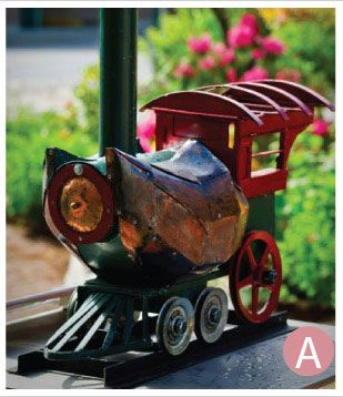 Sculpture of Train