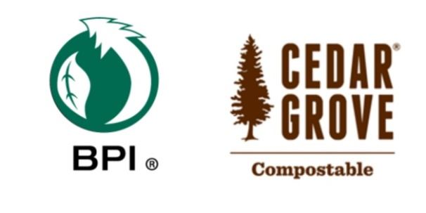 Cedar Grove compostable symbol