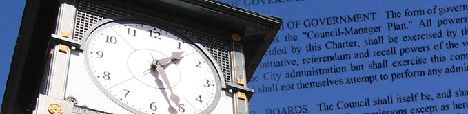 Clock Tower With Words