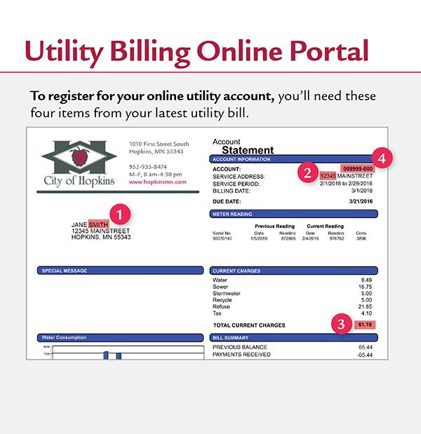 Utility Billing Online Portal Instructions